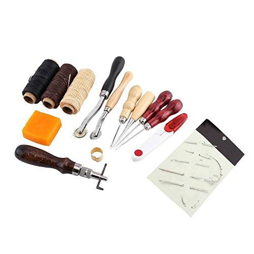 Kit de Couture, 14 pièces Cuir Coudre Tricot Outils de Couture Mini Accessoires de Couture de Taille pour la Maison