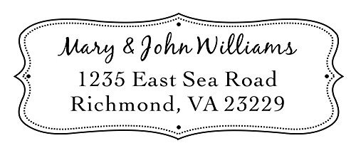 Designer Customized IDEAL 4913 Return Address with his & her name Self inking Stamp, size 58 mm x 22 mm
