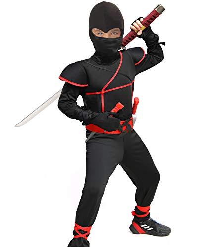 Heay Ninja Costume for Boys Halloween Costume Kids Ninja Cosplay
