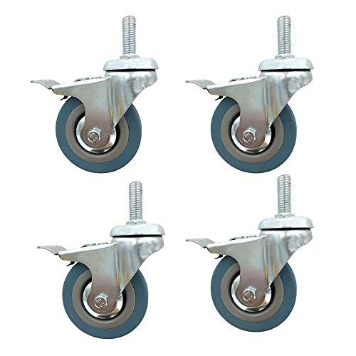ADSE Gummirad, Wagenheber, Lenkrollen mit Bremse, universelle 360-Grad-Drehung, Stummschaltung, Ersatzrollen für Schuhregal