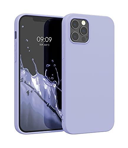 ICOVERI Funda de Silicona Compatible con iPhone 12 Pro MAX Malva. Carcasa Compatible con Accesorios Magsafe y Cargador Inalambrico. Funda Movil Proteccion Antigolpes.