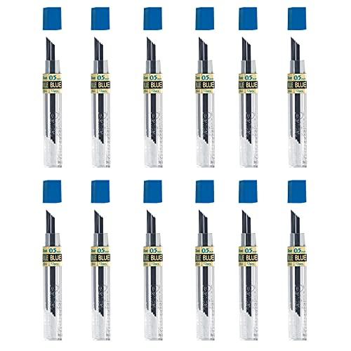 Pentel PPB 12 tubi per miniere blu per matite meccaniche blu da 0,5 mm