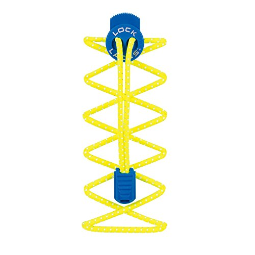 Nathan Lock Laces, Reflective Safety Yellow/Electric Blue