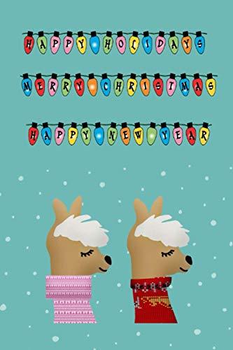 Frohe Weihnachten: Notizbuch mit Alpaka/Lama Motiv. Perfektes Weihnachtsgeschenk