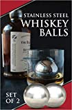 Whiskey Ball - Reusable Stainless Steel Ice Sphere - Scotch,Vodka,Wine Ice Chiller Stocking Stuffer - Ice Cube Metal Whiskey Stones Ball Won't Dilute Your Drink - Whiskey Drink Coolers Gift - Set of 2