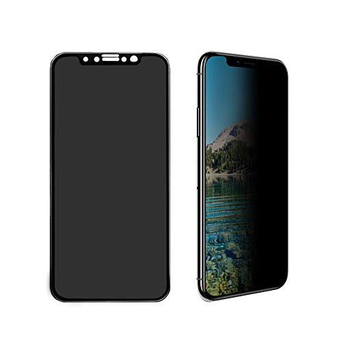 Pavoscreen Screen Protector for Apple iPhone Xs & iPhone X Privacy Tempered Glass Anti Spy Full Coverage Shatterproof [One Gift Phone Case]
