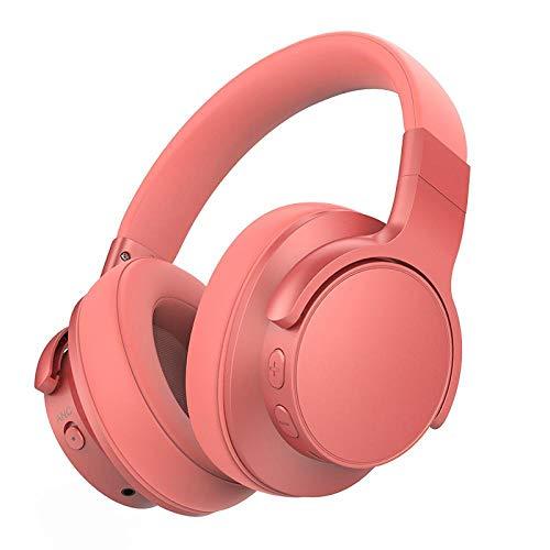 casque gamer Casque Bluetooth, casque sans fil, réduction active du bruit, casque intra-auriculaire pliable, charge rapide et microphone