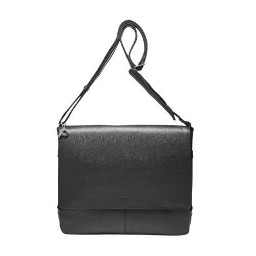 PICARD Hommes Pocket Peau Sac à bandoulière Torrino Noir 6830