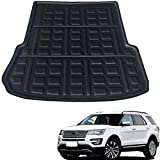 Coche Alfombrillas Maletero para Ford Explorer 2013 2014 2015 2016 2017 2018 2019, Forro Maletero Trasero Alfombrillas Impermeable Interior Protectora Accesorios