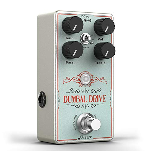 Donner Overdrive Effetto Pedale Chitarra, Dumbal Drive Pedale per Chitarra True Analog Circuit Overdrive