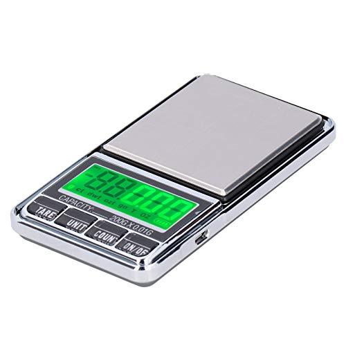 Einheitenumrechnung Taschenwaage Tara Funktion Waage Gewicht Waage Büro mit hoher Messgenauigkeit für die Küche zu Hause(0.01/600G)