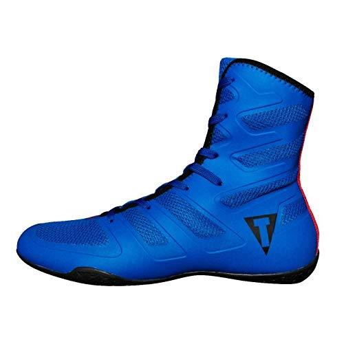 Title Boxing Total Balance Boxing Shoe, Blue/Black, 10.5