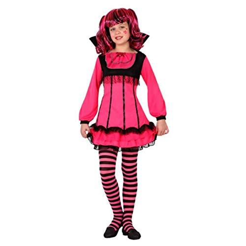 LEMON TREE SL Disfraz para Halloween Infantil de Vampiresa Color Rosa. Talla 3-4 años de niña y niño. Cosplay Halloween Vampiresa.