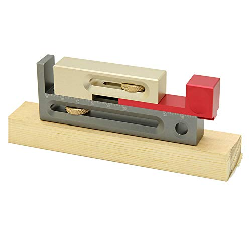 Mrs Bad Table Saw Slot Adjuster Mortise and Tenon Tool Movable Measuring Block Tenon Maker Length Compensation Router Table Set Up Woodworking Tools