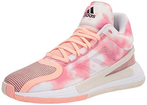 adidas Men's D 11 Basketball Shoe, Pink/Hazy Rose/White, 11.5