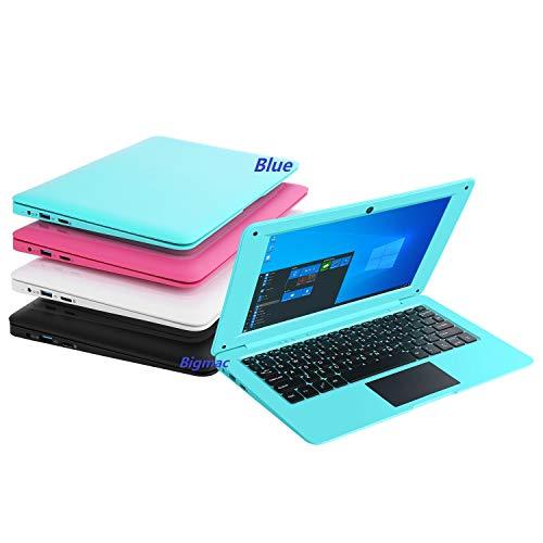 Bigmac Windows 10 Computer Laptop Mini 10,1 Zoll 32 GB ultradünnes und leichtes Netbook Intel Quad Core CPU PC HDMI WiFi USB Netflix YouTube (blau)…