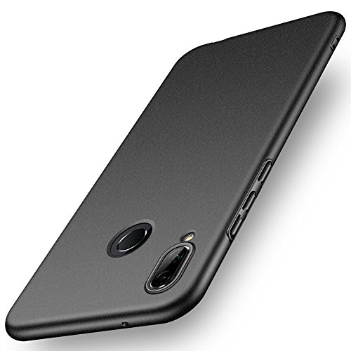 ORNARTO Funda Huawei P20 Lite, HW P20 Lite Carcasa [Ultra-Delgado] [Ligera] Mate Anti-arañazos y Antideslizante Protectora Sedoso Caso para Huawei P20 Lite(2018) 5.84 Arena Negro