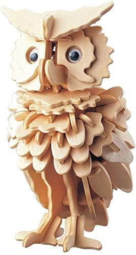 Ardilla 3D Woodcraft Construction Kit, Ardilla Rompecabezas 3D de Madera Modelo Woodcraft Construction Kit Jigsaw Sentido de la orientación del Juguete, 002 # ( Color : 002# )