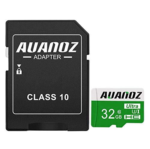 Auanoz Tarjeta De Memoria TF Ultra Class 10 UHS-I Tarjeta De Memoria De Alta Velocidad para Teléfono,Tableta y PC - con Adaptador. (Verde-32gb)