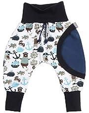 Lilakind - Pantalón infantil para bebés, color azul oscuro y blanco, talla 50/56-134/140 - Fabricado en Alemania.