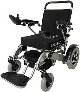 Mobiclinic, modelo Troya, Silla de ruedas eléctrica, plegable, con motor, para discapacitados, minusválidos, ancianos, ortopedica, para mayores, asiento 45 cm, autonomía 17 km, 24V, Azul