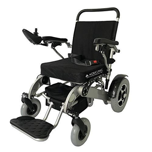 Mobiclinic, modelo Troya, Silla de ruedas eléctrica, plegable, con motor, para discapacitados,...