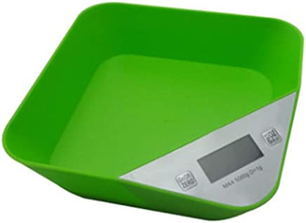 Digital Kitchen Scales, Electronic Smart Scales Portable Boxed Food Cooking Scales with LCD Display and Tare Function Capacity: 5kg / 1g,Green