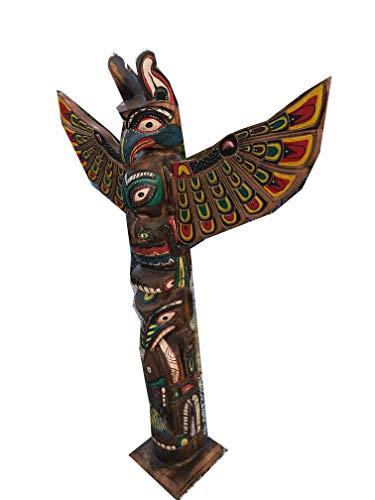 Kenai - Deko Totempfahl 150 cm, Wappenpfahl, Marterpfahl, Totem Pole,Totem Stake,modern Art,New Look