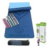 biomundus Esterilla Yoga Mat Antideslizante. Esterilla Deporte en casa Material...