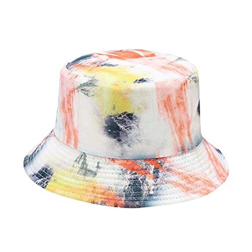 FMY Sombreros coloridos del cubo de la impresión de la moda de las mujeres de la sombrilla sombrero del pescador del cuenca del sombrero al aire libre del cubo