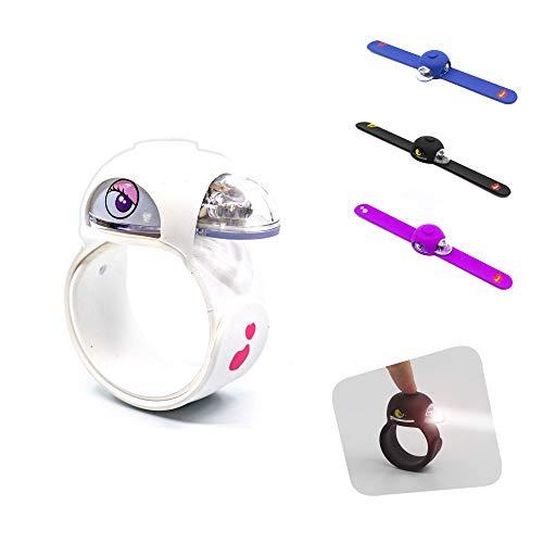 Crazy Safety | Slap Wrap | LED-Licht für Kinder zum Radfahren und Laufen, lustiges Design, nützlich als reflektierende Ausrüstung oder als Rucksackbeleuchtung, lustige Kinderlichter, viele Farben