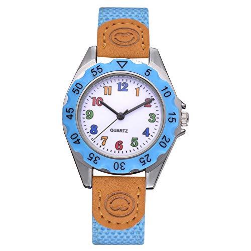jiushixw Niños Niñas Moda Colorida Correa Número árabe Deporte Relojes de Pulsera de Cuarzo Relogio Masculino Dropshipping HK & 50