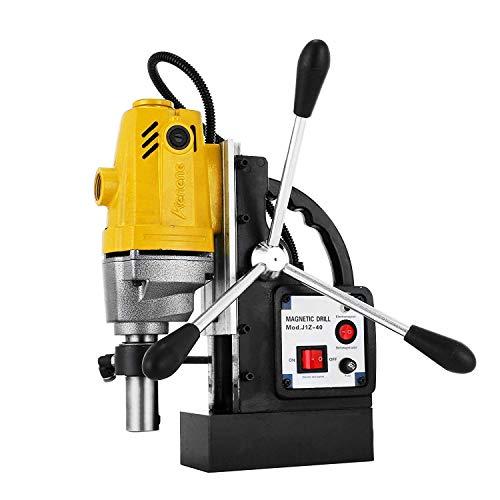 Mophorn Industrial Steel Magnetic Drill 1-1/2'(40mm) Manual Bench Drill Press Stand 1100W Rotary Pillar Press Drill