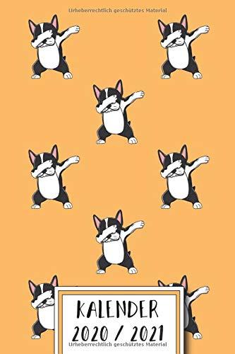 Kalender 2020 / 2021: Französische Bulldogge - 18 Monate Planer von Juli 2020 bis Dezember 2021 mit elegantem Innendesign- Jahresübersicht, ... und Organizer - Motiv Französische Bulldog