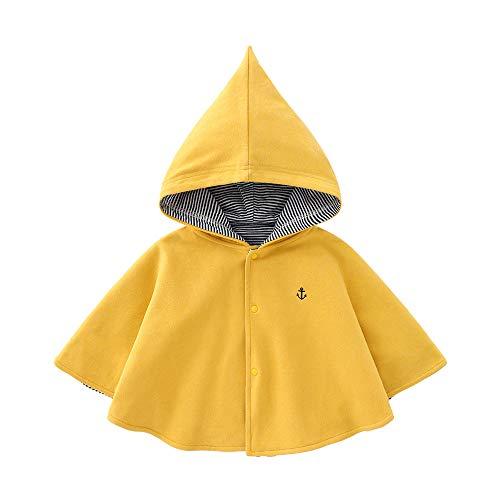 Babynestベビーコートポンチョジャンパー子供服マントモコモコ暖かいキッズ裏ボアコート防寒ベビー服カーディガンジャケットアウターウェア出産祝い黄色80cm9-12ヶ月