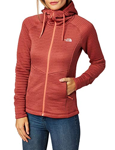 THE NORTH FACE Hikesteller Midlayer Jacket Vrouwen stralend oranje/kardinaal rood 2019 winterjas