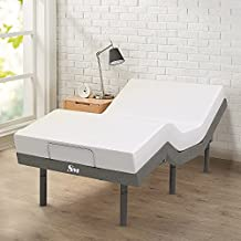 Superior Mart Adjustable Bed Frame with Mattress - Included Electric Massage for Better Sleep & Comfort - Reclining Base, Dual Massagers, Head & Foot Incline, Wireless Remote, USB Ports - Size Twin XL