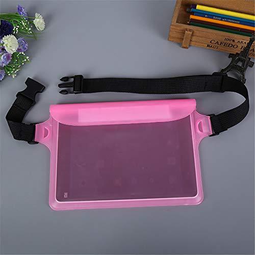 ACHICOO Outdoor Sports heuptas voor zwemmen duiken 3-laags waterdicht verzegeld touchscreen tas roze eenheidsmaat