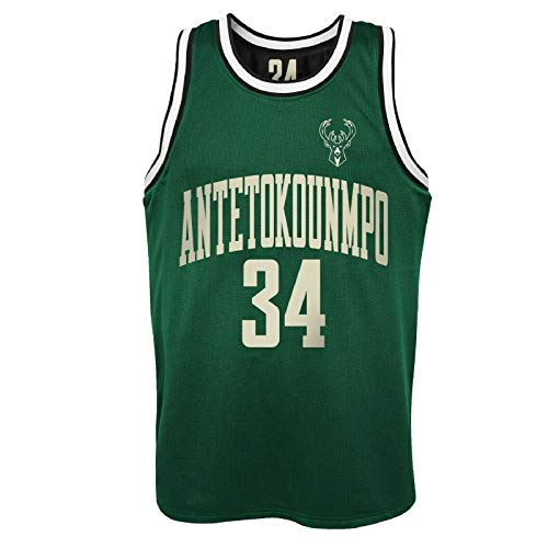 Camiseta de la NBA Milwaukee Bucks Giannis Antetokounmpo, camiseta de baloncesto reversible (XXL)