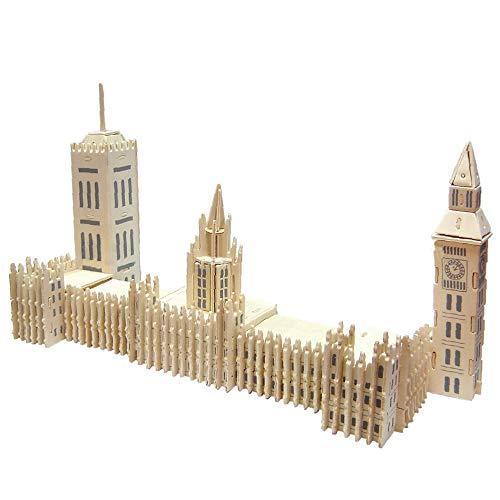 Radiancy Inc 3D Bouwblokken Puzzel Set Houten Big Ben Puzzle Model Kit 3D Architectural Model Puzzel Bouw Modellen Starter Model voor Home Slaapkamer Decoratie Volwassenen en Kinderen