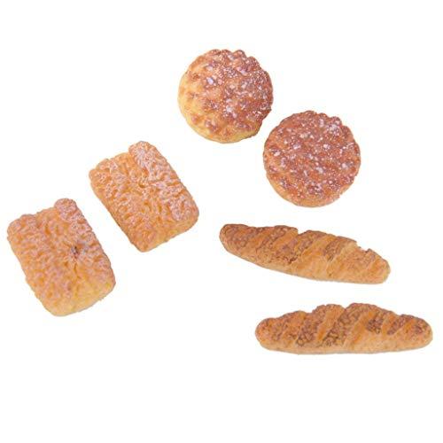 Ouken 1:12 Dollhouse Miniatures Alimentos Accesorios Alimentos Pan Miniatura Sistema Incluyendo 2 Piña Bun 2 Queso Pan 2 Pan
