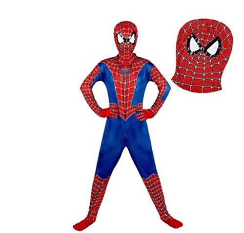 Spiderman kinderkostuum home coming kostuum Halloween carnaval superheld Spiderman kinderkostuum cosplay pak Spiderman pak 3D print 110 cm rood