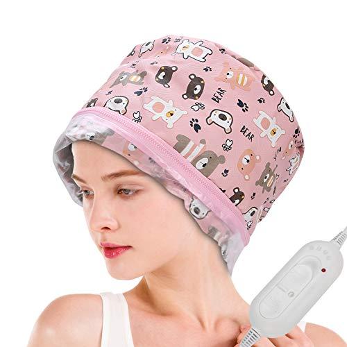 Gorro de Spa para Pelo,Mascarillas térmicas para el cabello con tratamiento de...