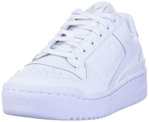 adidas Originals Women's Forum Bold Sneaker, White/White/Black, 9.5