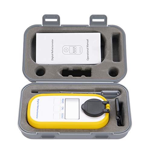 Beslands Refractometer koffiesap Brix-meter ATC suikergehalte analysator met 0 tot 50% testbereik voor suikergehalte digitale vrucht en vruchtensap refractometer