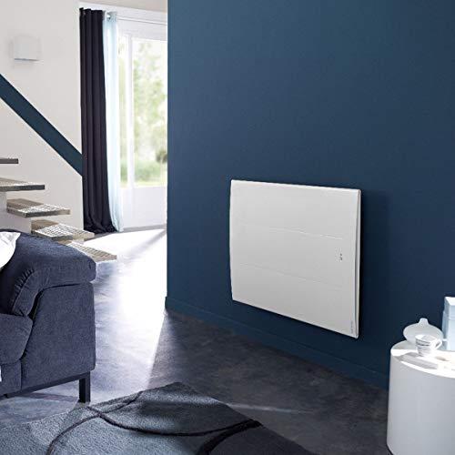 radiateur électrique connecté - atlantic oniris pi - horizontal - 1000 watts - blanc - atlantic 503910