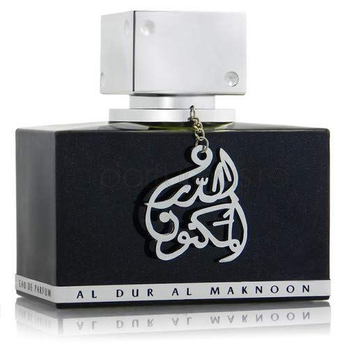 Al Dur Al Maknoon Silver EDP Spray 100 ml para él por Lattafa - Colección Delightful Fragrances