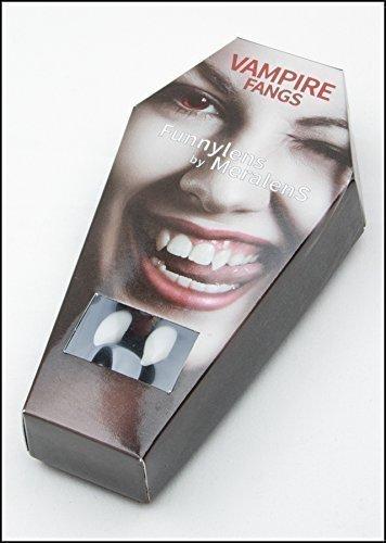 Meralens Vampirzähne Blood Sucker wiederverwendbar mit Abformmasse (Thermoplastik) - Perfekter Halt durch individuelle Anpassung