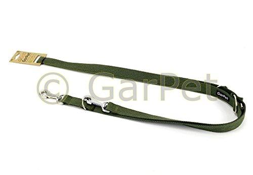 Hundeleine Baumwolle COT verstellbare Hunde Leine 6in1 Cotton Trainingsleine (Khaki, Gr.4)