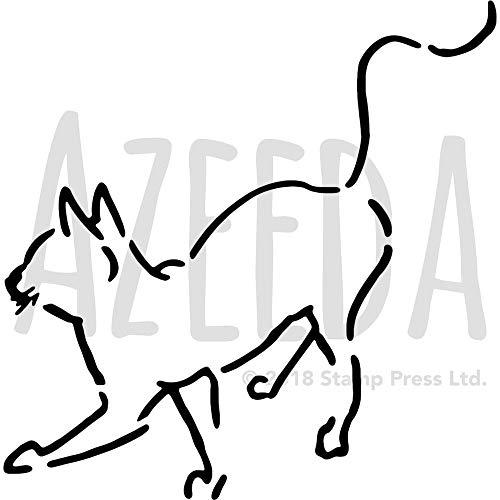 Azeeda Groß A2 'Katze' Wandschablone / Vorlage (WS00017096)